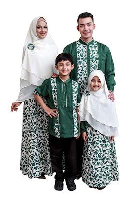 Model Baju Muslim Pesta Pasangan Keluarga Terbaru