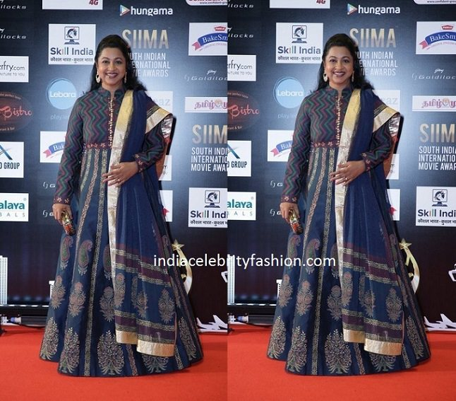 Radhika Sarathkumar in Floor Length Anarkali
