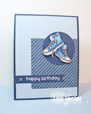 Happy Birthday card-designed by Lori Tecler/Inking Aloud-stamps and dies from Clear and Simple Stamps