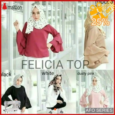 AFO299 Model Fashion Felicia Bell Top Modis Murah BMGShop