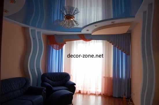 ceiling designs for small living room, stretch ceiling