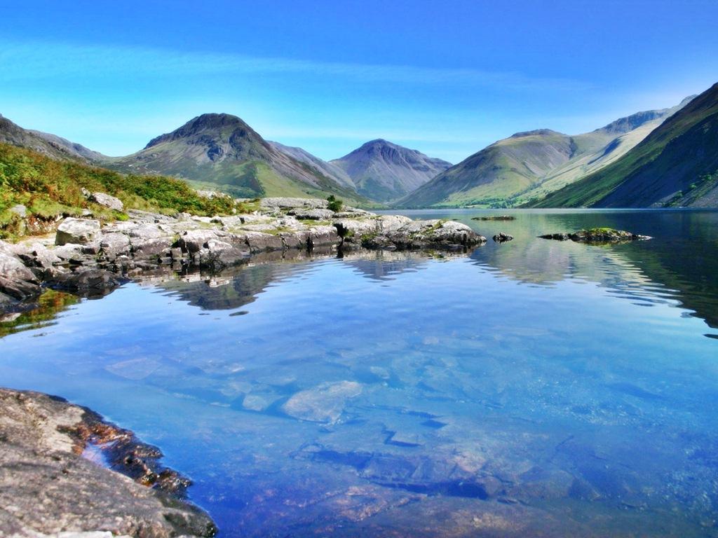 Озерный край в Англии упавшие на Землю Небеса