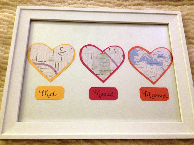 First Anniversary Gift - Map Hearts Display Tutorial (and Other Paper Gift Ideas)
