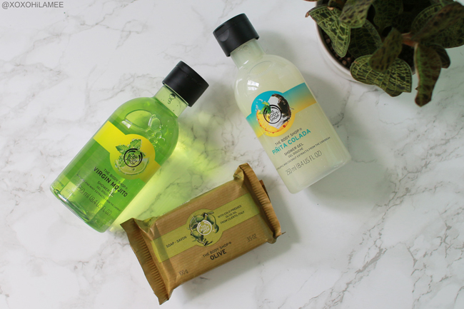 Japanese fashion blogger,Mizuho K,What's new in august?  THE BODY SHOP シャワージェル、ヴァージンモヒート、ピニャコラーダ、ソープ オリーブ