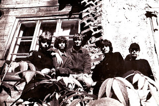 Promo photo of Blues Section Left to right : Ronnie Österberg, Hasse Walli, Måsse Groundstroem, Jim Pembroke and Eero Koivistoinen. Photo: Jukka Vatanen, Summer 1967