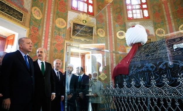 Ο Ερντογάν εγκαινίασε τον αναστηλωμένο τάφο του Μωάμεθ Β΄ του Πορθητή