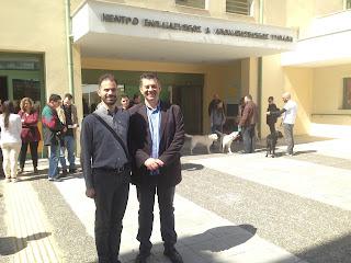 Ο Βαγγέλης Αυγουλάς με τον Πρόεδρο του ΚΕΑΤ Μενέλαο Τσαούση