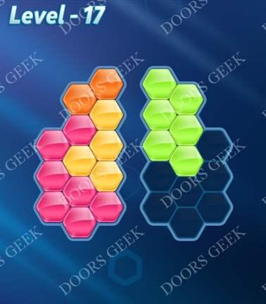 Block! Hexa Puzzle [5 Mania] Level 17 Solution, Cheats, Walkthrough for android, iphone, ipad, ipod
