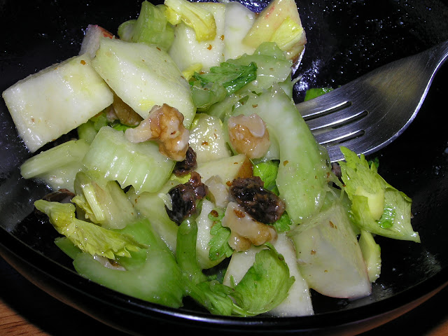 apple celery walnut salad