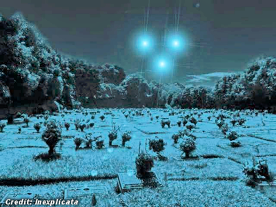 Luminous UFO Reported Over Cemetery