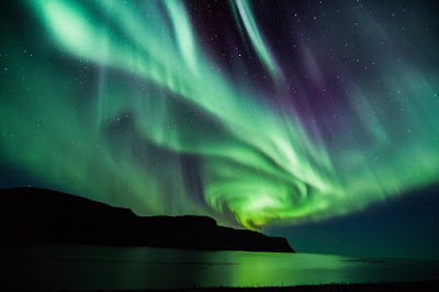 Iceland's mysterious Northern Lights in the fall