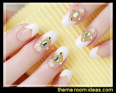 Princess Crystal Nail Art  fake nails