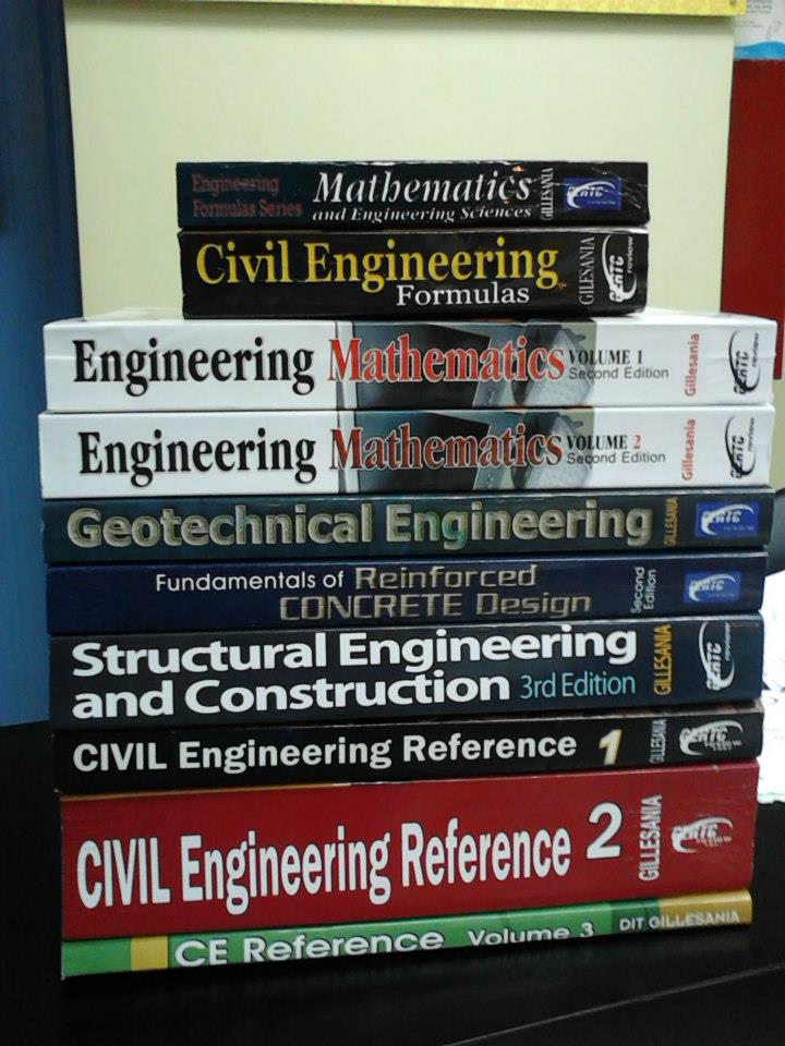 philippine civil engineering review tips  guides civil engineering review books philippines