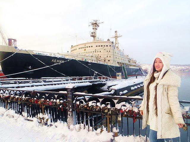 Kapal Pemecah Ais Berkuasa Nuklear, Rusia, Murmansk.