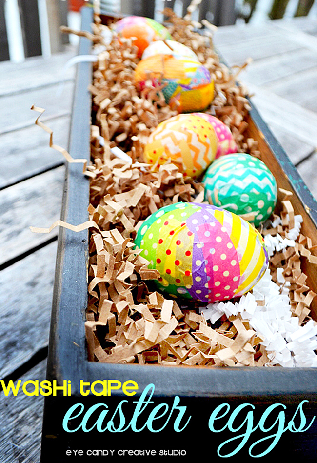 crafting with washi tape, how to make washi tape easter eggs, easter