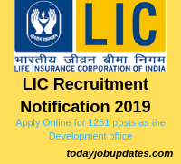 LIC Recruitment Notification 2019