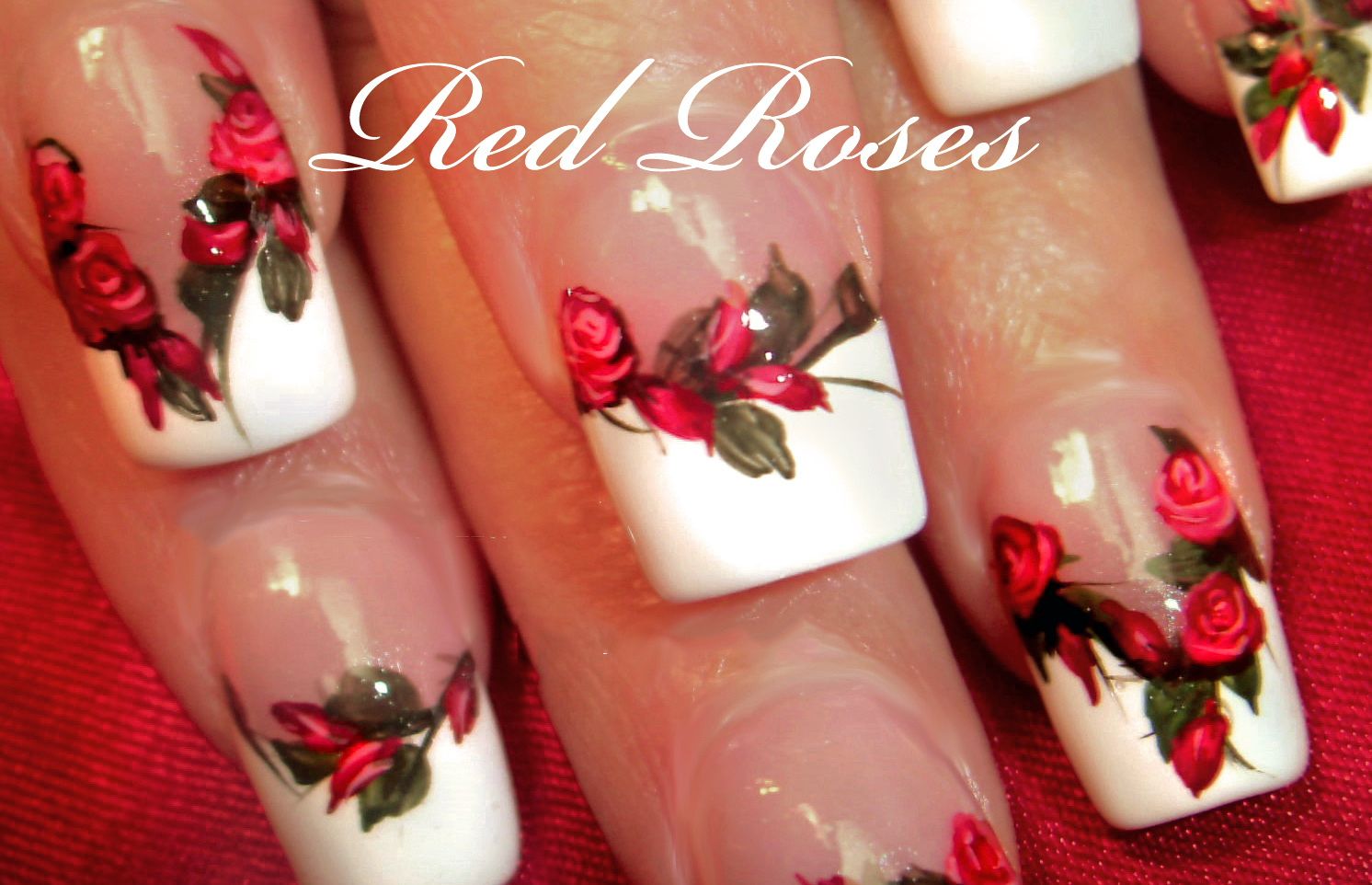 Robin moses nail art diy easy red rose nails romantic roses diy easy red rose nails romantic roses nail art design tutorial prinsesfo Gallery