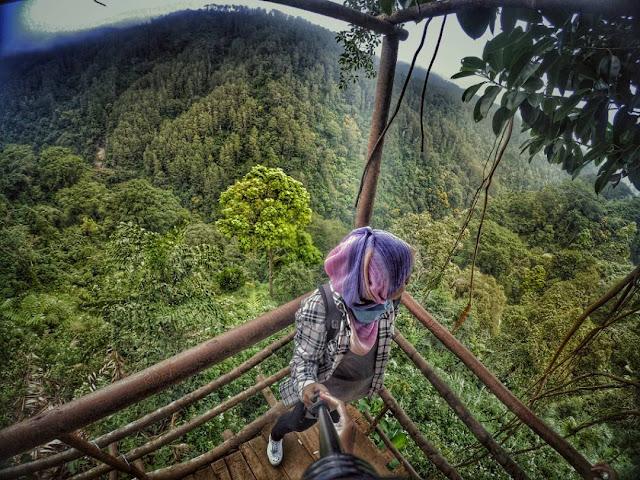 Selfie di Rumah Pohon Desa Tombo