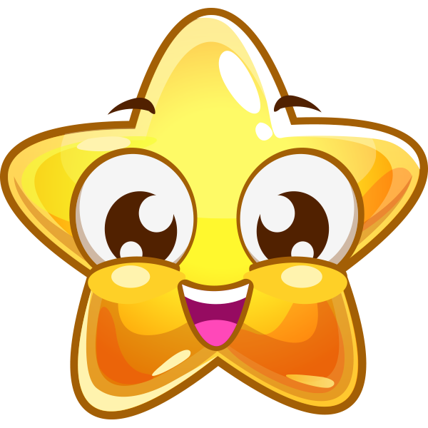 Grinning Star Icon