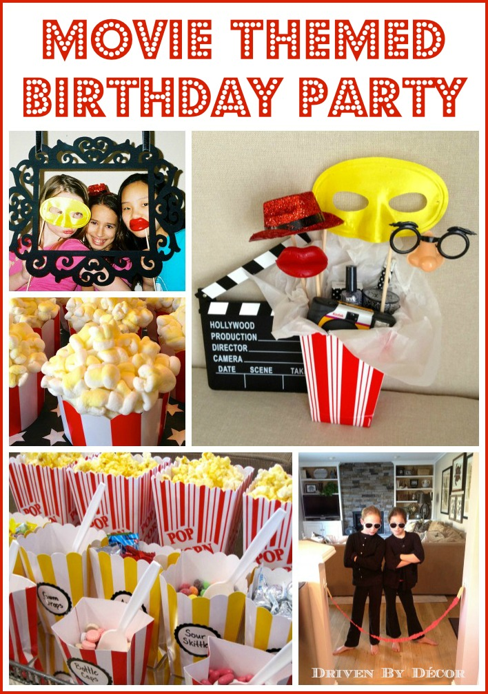 Movie Themed Birthday Party Driven By Decor