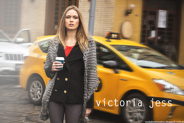 Ropa de moda tapados otoño invierno 2016 Victoria Jess,