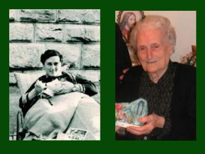 Anna Santaniello: antes e depois.