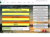 Download Aplikasi Raport SMP KTSP Format Excel Gratis