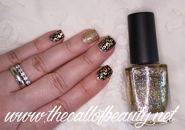 Black & Gold Leopard Print