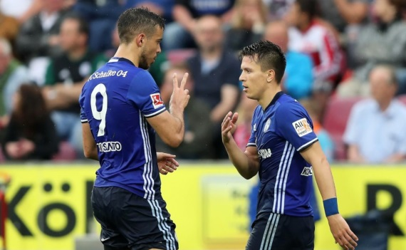 Schalke 04 celebrate a goal