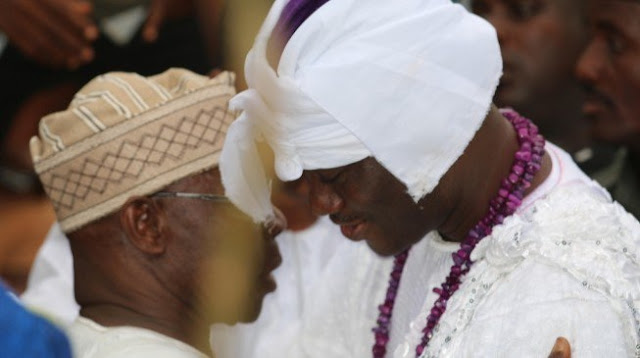 Ooni: I knelt down before Obasanjo for prayers