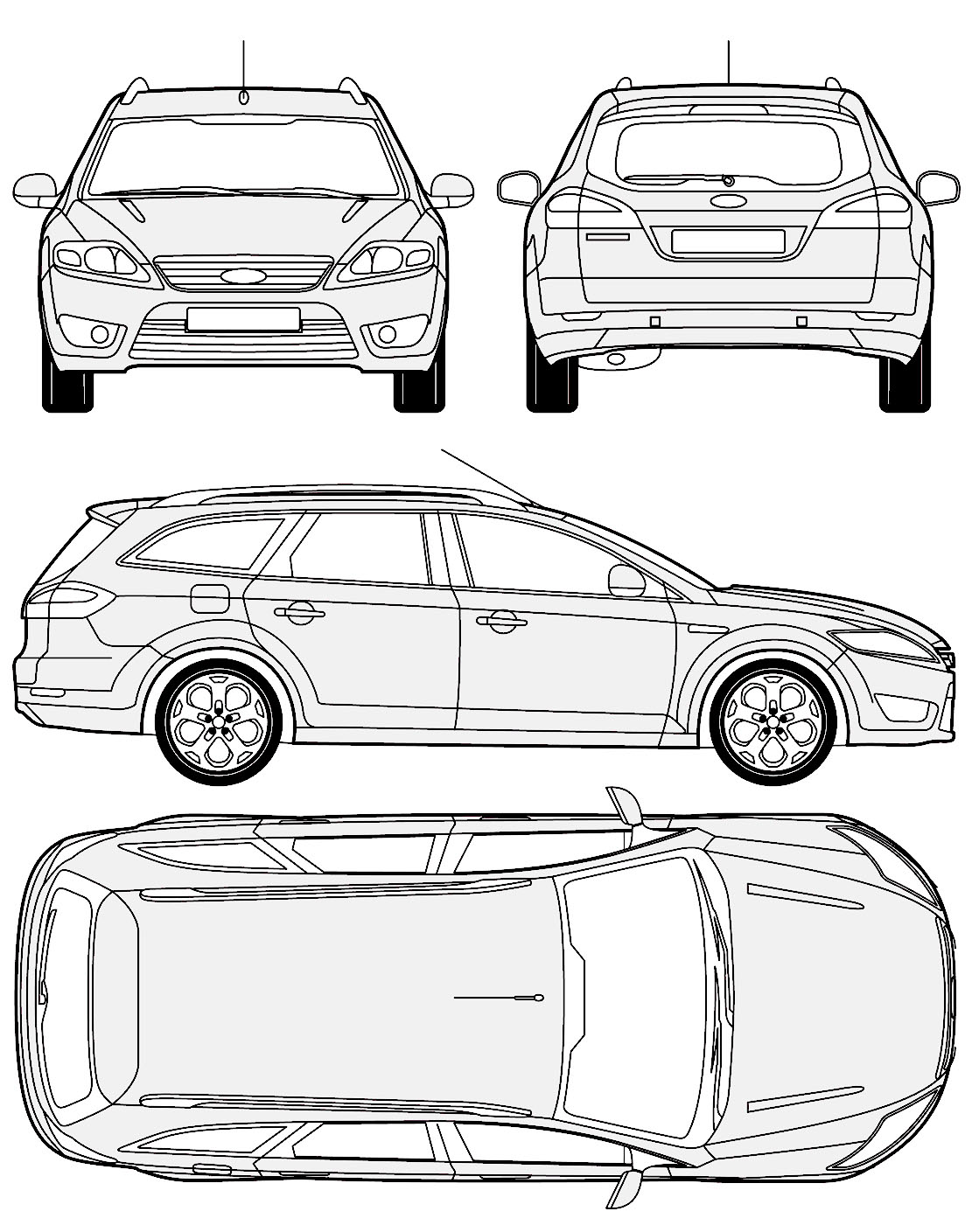 Ford mondeo blueprints