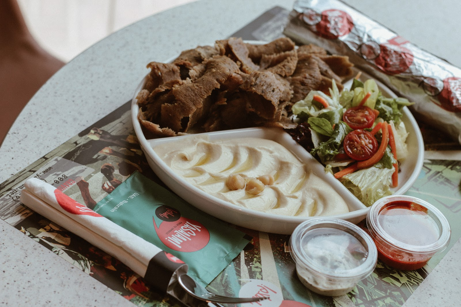 photo of shawarma plate