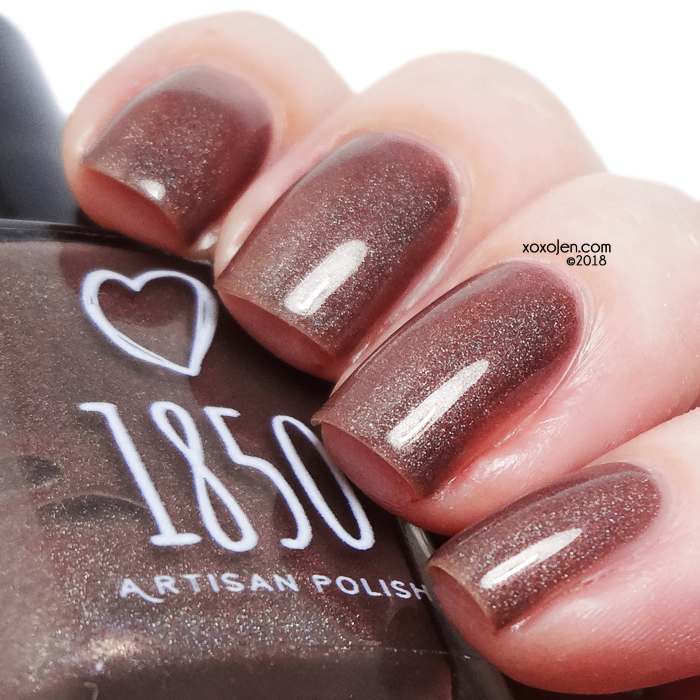 xoxoJen's swatch of 1850 Artisan Polish Chocolate Waterfall