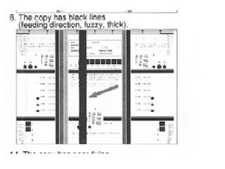 Garis putih vertikal pada hasil foto copy