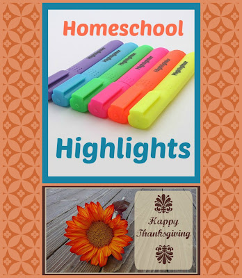 Homeschool Highlights - Thanksgiving - Join in the weekly link-up of highlights from our homeschool week, hosted by Homeschool Coffee Break @ kympossibleblog.blogspot.com