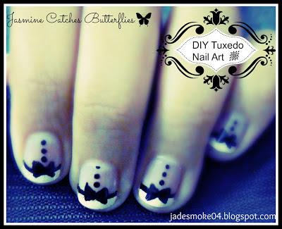 DIY Tuxedo Nail Art Tutorial