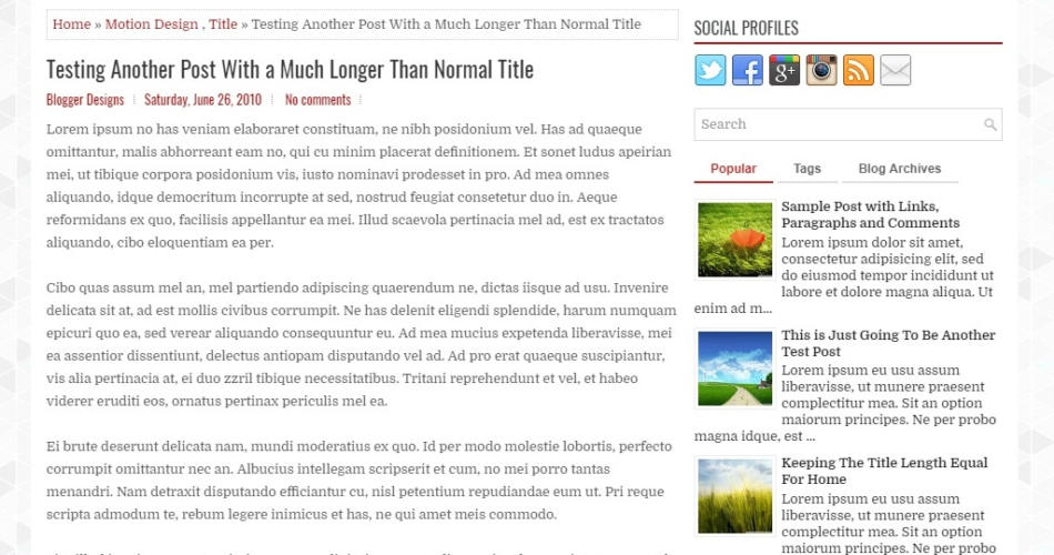 News Zone Newspaper Blogger Template