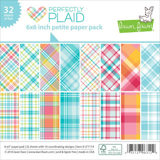 Perfectly Plaid 6x6 inch petite paper pack