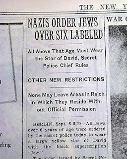 Yellow Star of David badge 7 September 1941 worldwartwo.filminspector.com
