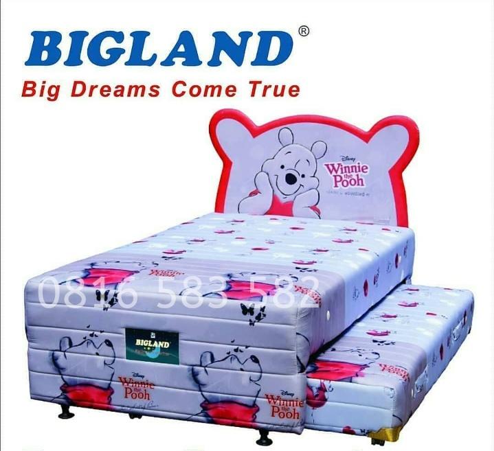 Spring Bed Anak Sorong Karakter Bigland Model Terbaru