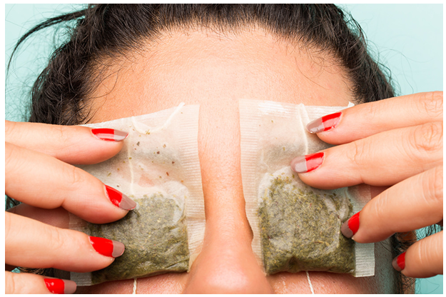 Image result for used green tea bags for eyes