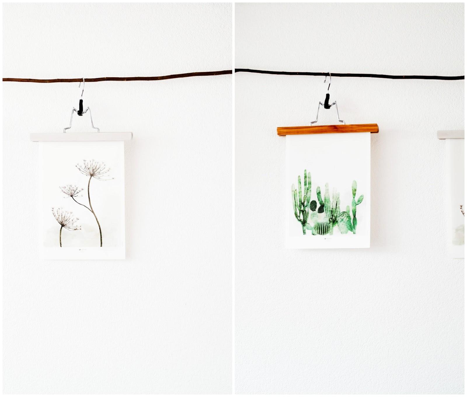 De houten kledinghanger voor broeken zijn het meest populair voor foto's en poters op te kunnen hangen.