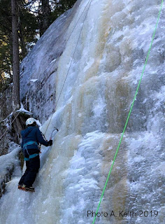 Stonehouse Pond, ice climbing