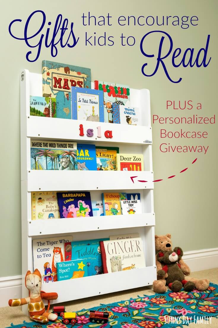 Find the perfect gift idea to encourage young children to read! And enter to win your own personalized kid's bookcase just in time for Christmas!