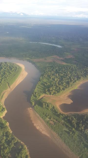 Sungai Kapuas di lihat dari Udara