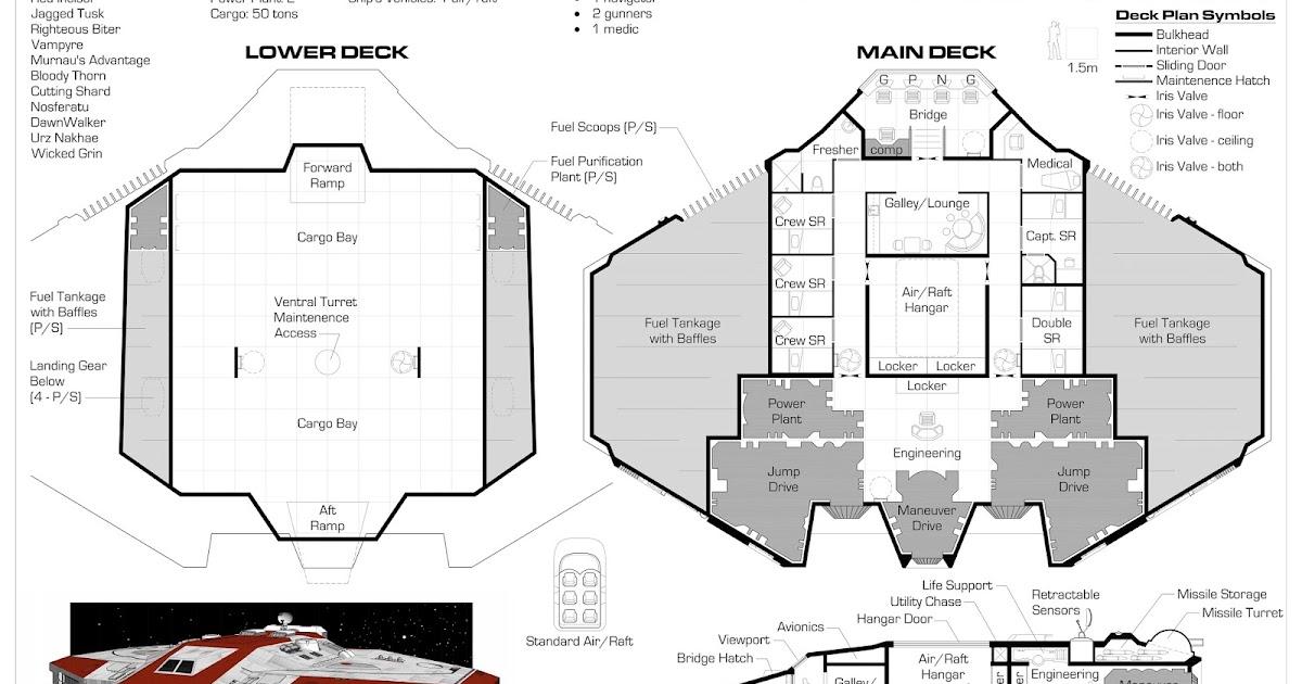 Yet another traveller blog deck plans starship 200 ton armed merchant - Drop shipping home decor plan ...