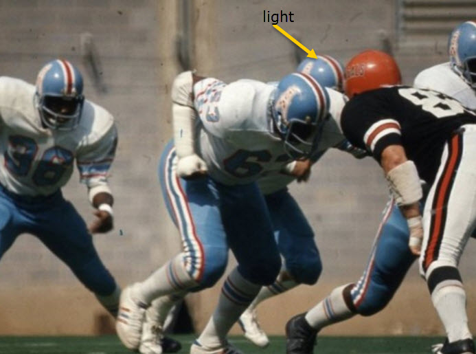 Here defensive lineman John Matuszak appears to have a lighter lid than the  player behind him  92167a5d9