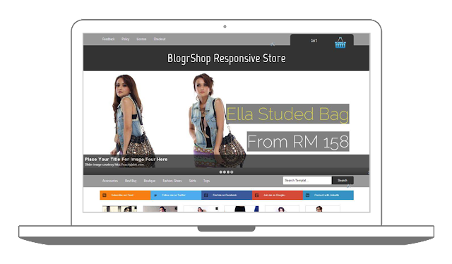 responsive blogger store download