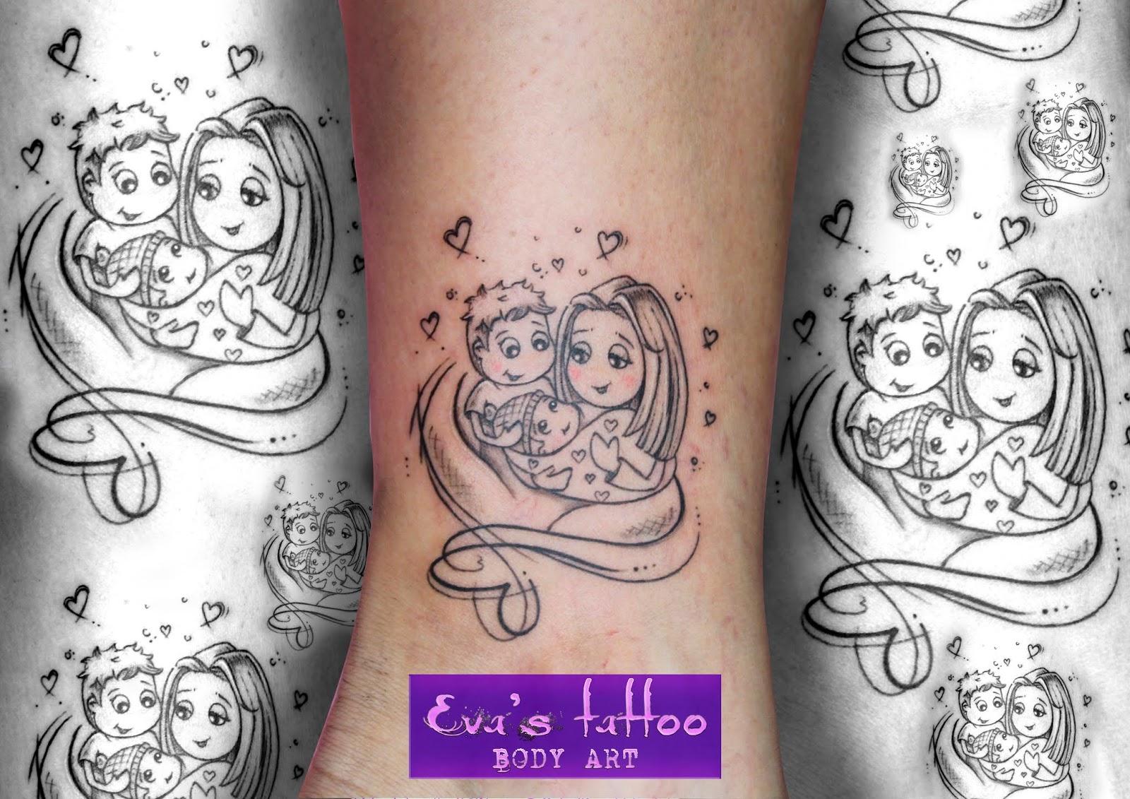 Zapatearte Tatuajes Madre E Hijos