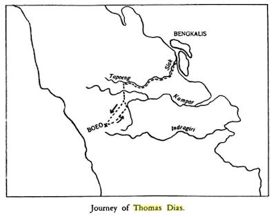Profil Kabupaten Kampar Riau peta perjalan Thomas Dias